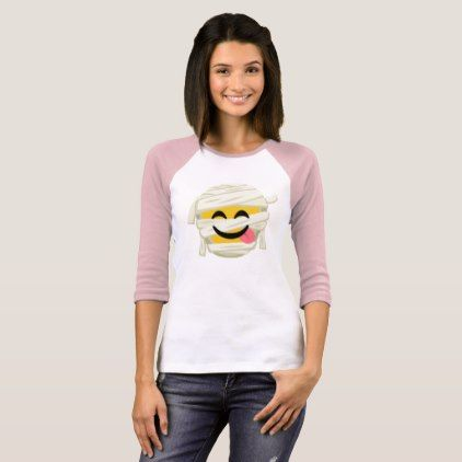 Funny Mummy Bleh Emoji Halloween T-Shirt - Halloween happyhalloween festival party holiday