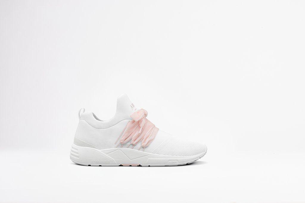 Raven Mesh Velvet S E15 White Soft Rose Women | Sneakers