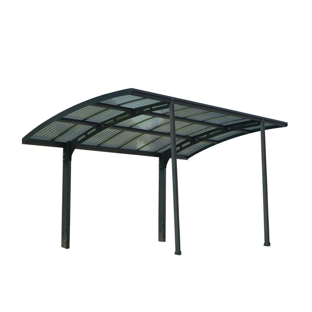 Palram Arizona 5000 Wave 9 Ft 6 In X 16 Ft 3 In X 9 Ft H Carport With Detachable Winter Support Kit 705060 The Home Depot Polycarbonate Roof Panels Roof Panels Carport