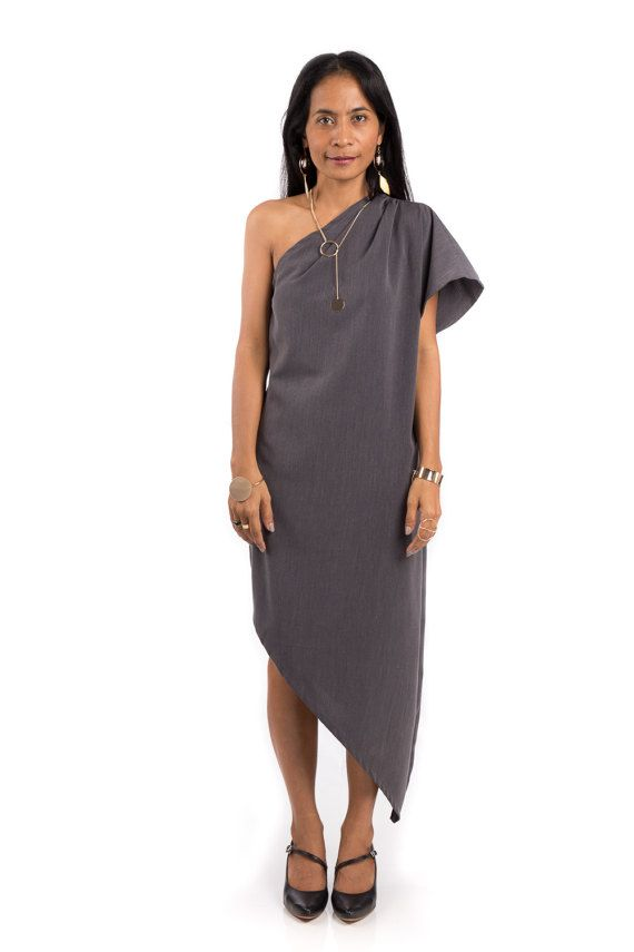 Evening Grey Dresses Midi