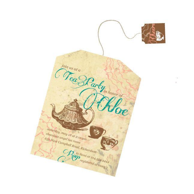 Tea Bag Tea Party Invitation Party Ideas Pinterest Tea party - tea party invitation