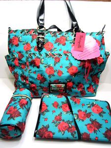 My New Betsey Johnson Diaper Bag Baby