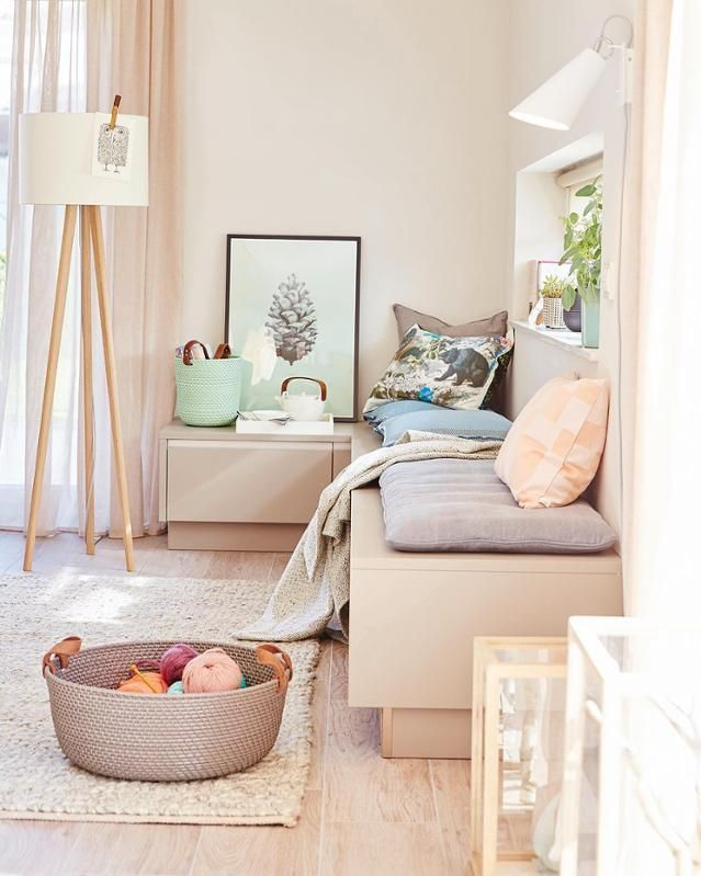 Pearl, SCHÖNER WOHNEN-Trendfarbe #wandfarbe #teppich #wohnzimmer - Pflanzen Deko Wohnzimmer
