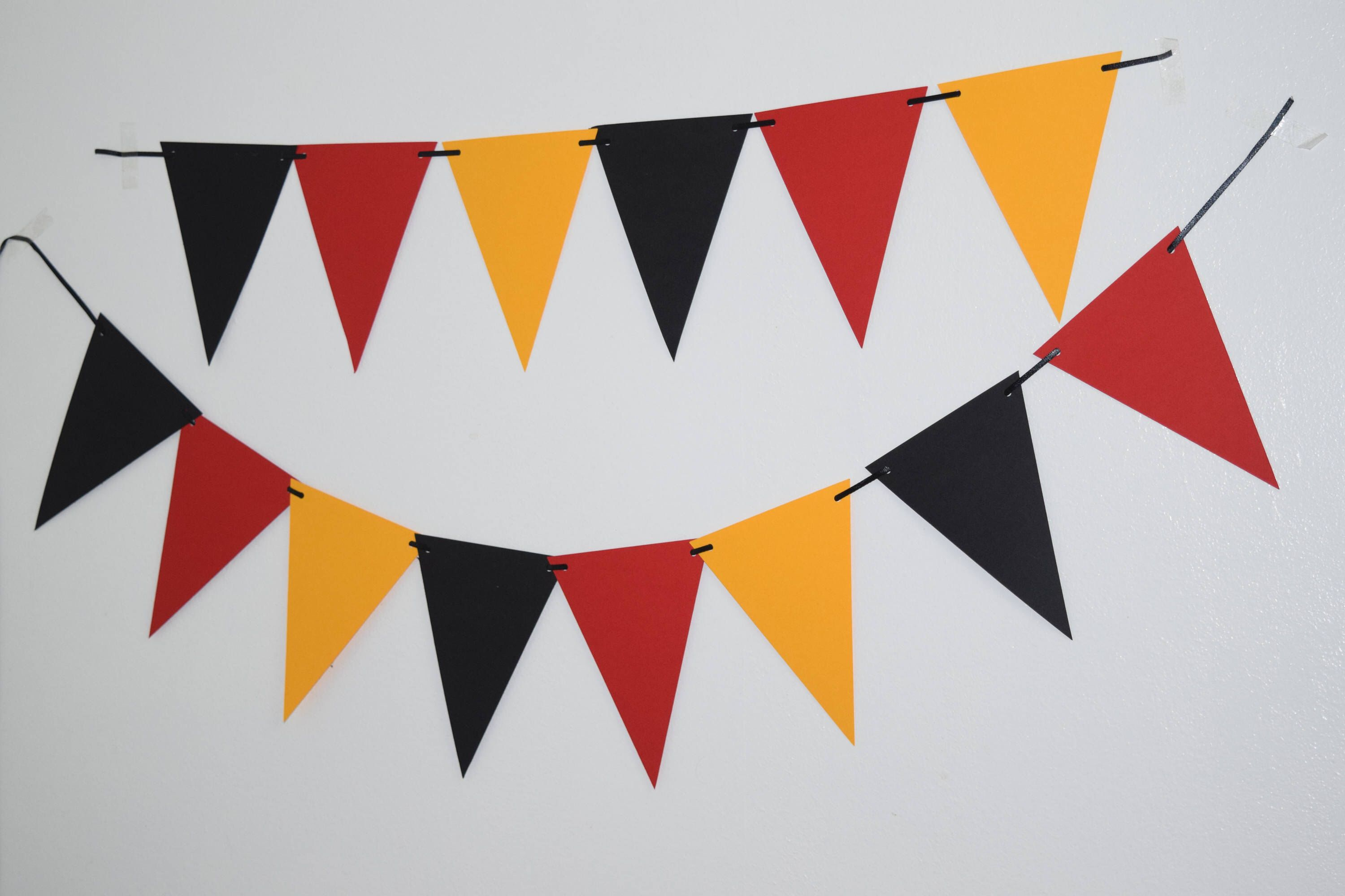 Mickey Mouse Paper Banner Black Red Yellow Paper Bunting Pennants Flag Banner Micke Mickey Mouse Party Decorations Boy Birthday Decorations Mickey Decorations