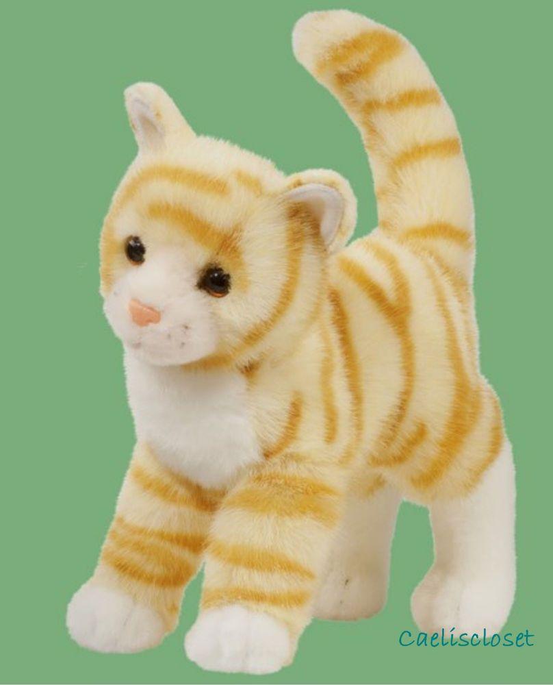 Douglas Plush Tiffy Orange Tabby Cat Stuffed Yellow Striped Cuddle Toy New Tabby Cat Cat Plush Stuffed Animal Cat