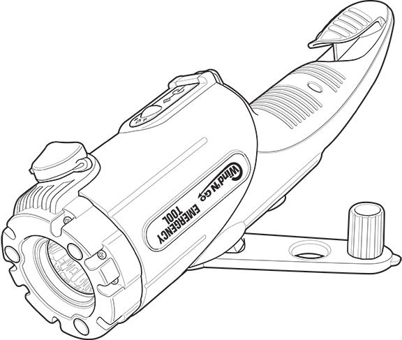 Instruction manual tech illustration of emergency tool by Ron - instruction manual