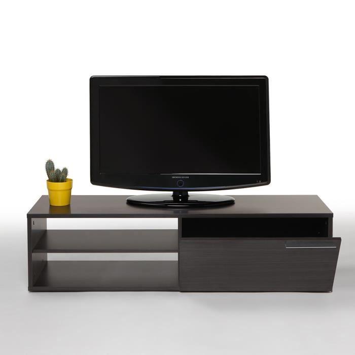 Meuble Tv Kikua Meuble Tv 130 Cm Gris Cendré | Petit Espace