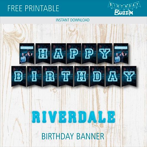 Free Printable Riverdale Birthday Banner Birthday Banner