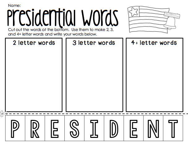 Presidents Day Free Printables From Ship Shape First Grade
