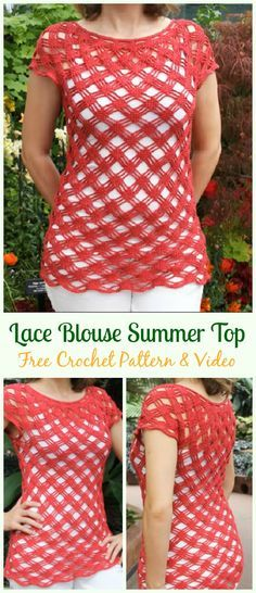 Crochet Lace Blouse Summer Top Free Pattern Video Crochet Summer