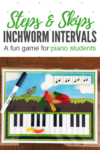 Learning To Read Steps And Skips With Intervallic Inchworms Piano Lessons For Kids Teach Piano Today Piano Games