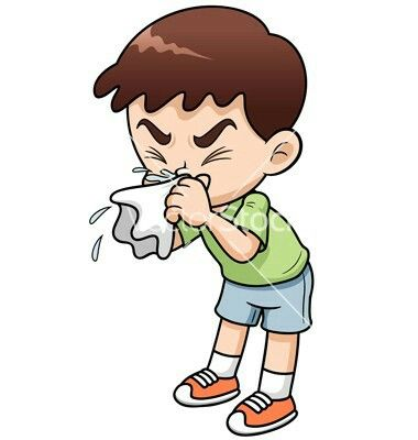 Image result for image of sick child cartoon