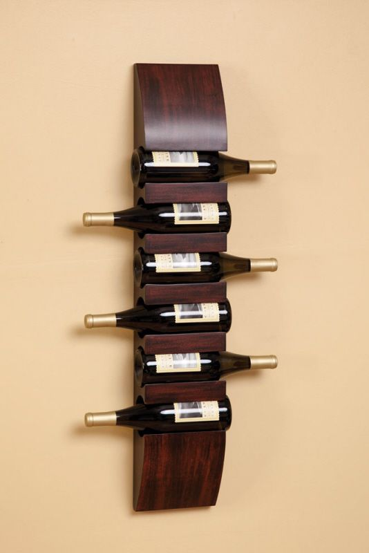 36-sleek-modern-style-wall-mounted-wooden-wine-rack   Dream Home ...