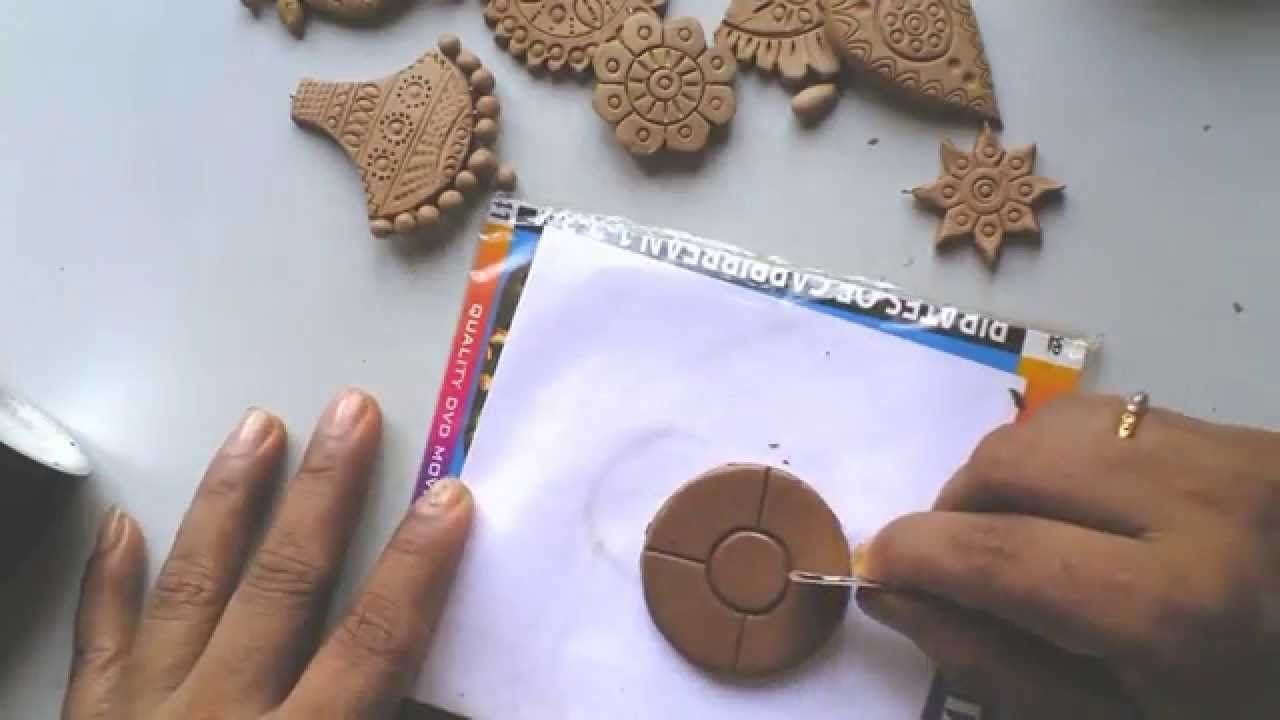 terracotta clay jewellery making tutorial how to make a simple flower hecho con masa. Black Bedroom Furniture Sets. Home Design Ideas