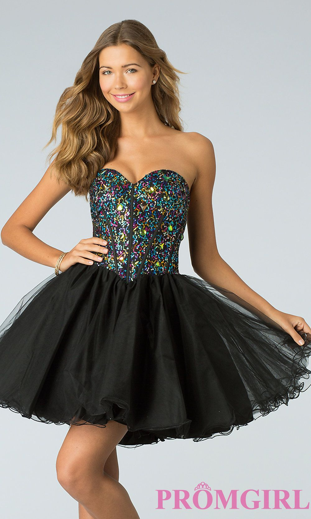 Black Short Corset Dress