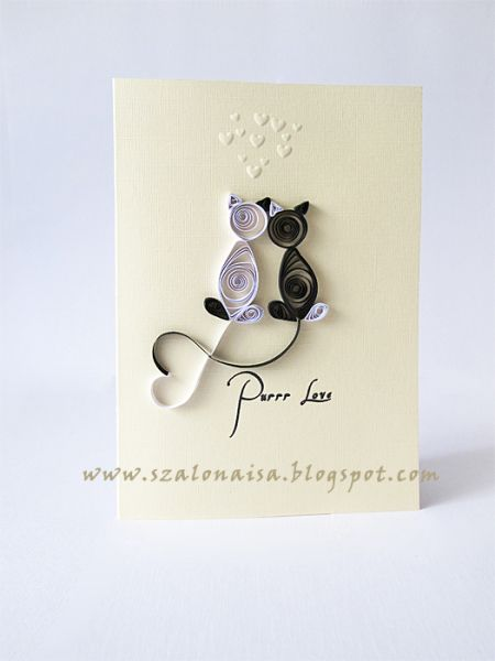 Quilled Purr love Card