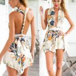 STRIPLESS PLAYSUIT BEACH PRINT DRESS