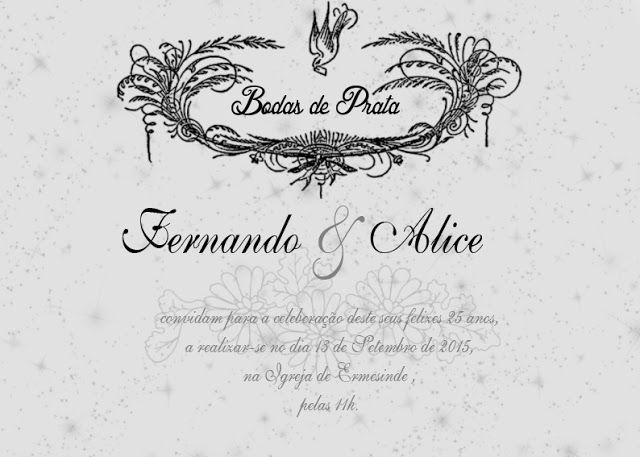 Convite Bodas De Prata Com Imagens Convites Bodas De Prata