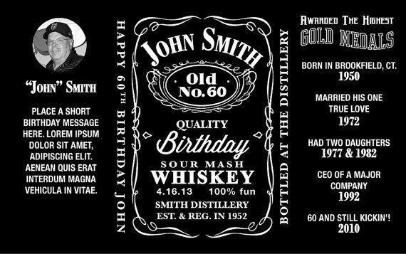 Jack Daniels Inspired Mini Bottle Labels Personalized Printable On Etsy 20 00 Jack Daniels Label Jack Daniels Label Templates