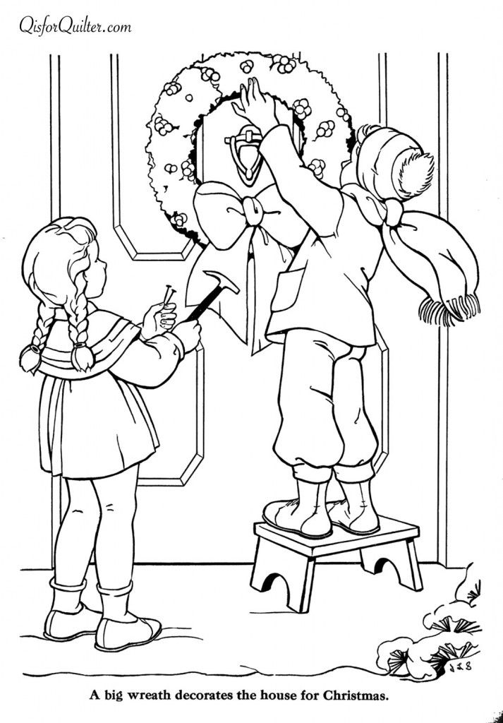 countdown to christmas coloring pages | Countdown to Christmas – 7 Days (Q is for Quilter ...