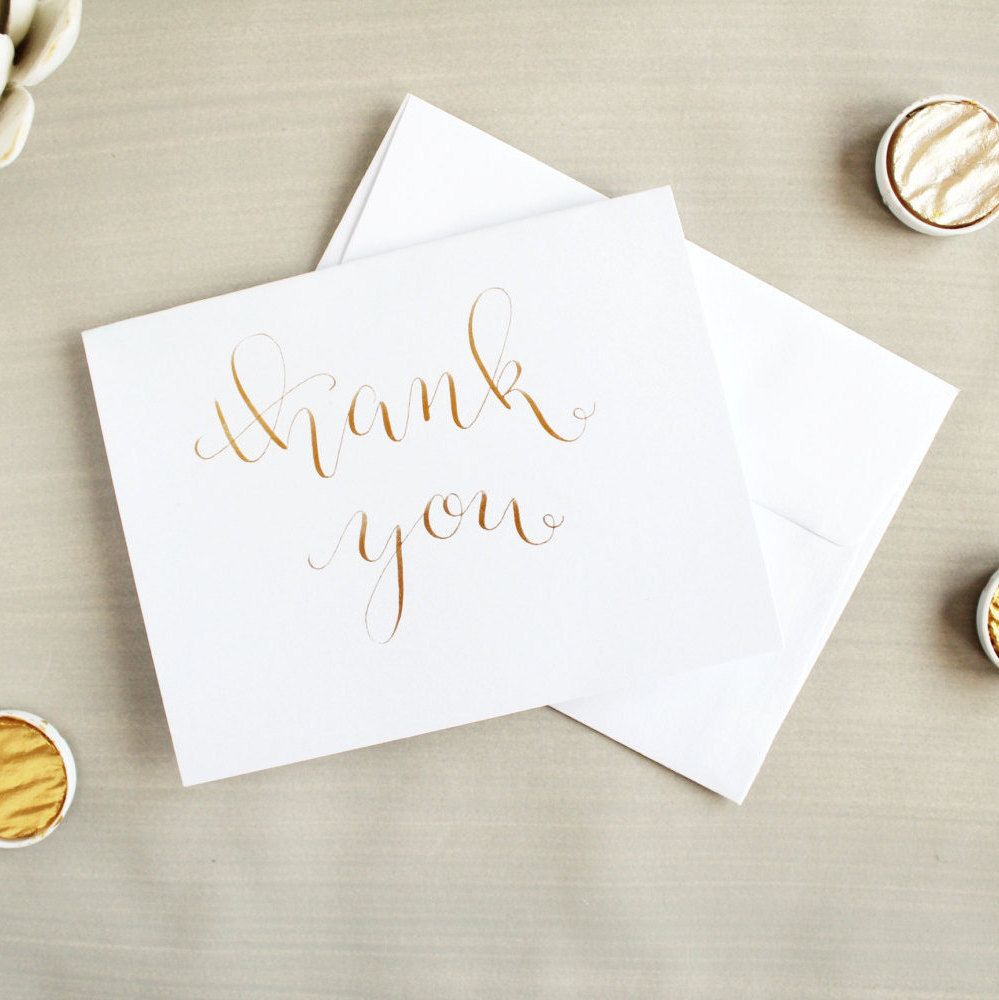 Small Thank You Cards Bulk Wedding Baby