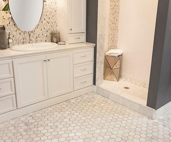 2 hampton carrara marble tile love love love - Carrara marble floor tile bathroom ...