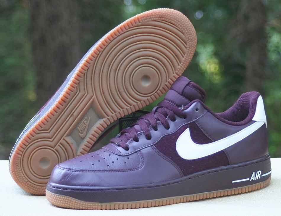 newest 7a47d 6dd8e Nike Air Force 1  07 Low Deep Burgundy White Gum 315122-610 Men s Size 11   Nike  AthleticSneakers