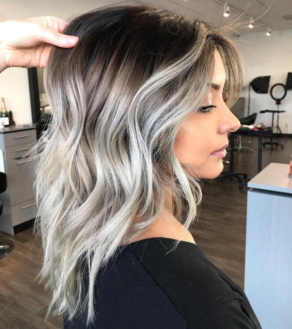 45 Ideas Of Gray And Silver Highlights On Brown Hair Hair Styles Spring Hair Color Hair Color Balayage
