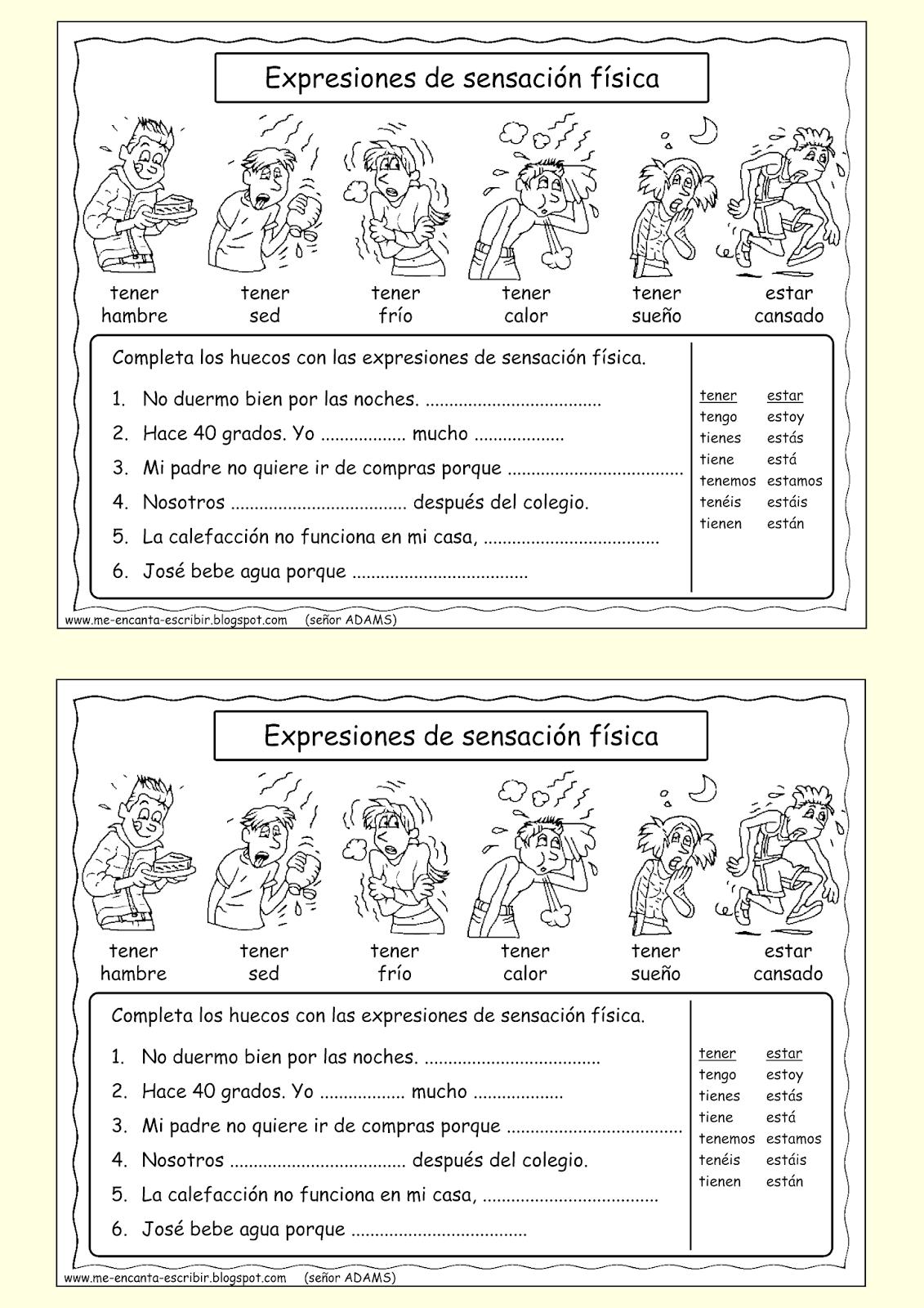 worksheet Tener Expressions Worksheet 17 best images about tener ser estar hay on pinterest language salud and student centered resources