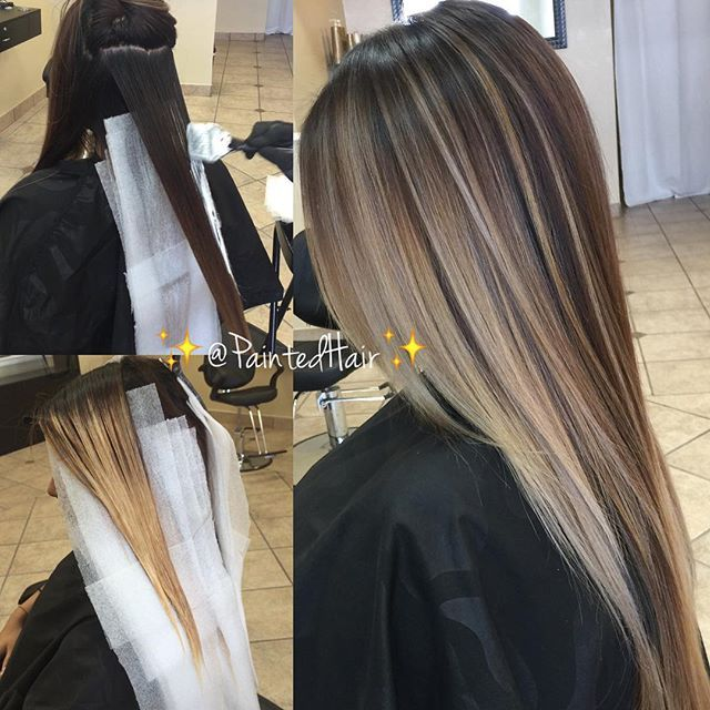 Dark To Ash Blonde Hair Highlights Hair Painting Hair Styles