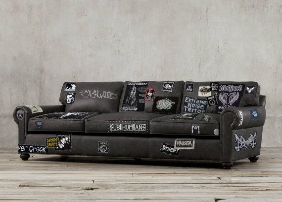 this couch is pure metal but also stylish crust couch by uvproductionhouse on etsy farci. Black Bedroom Furniture Sets. Home Design Ideas