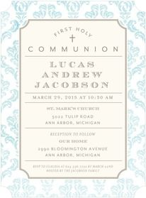 First Communion Invitations And Holy Communion Announcements By Tiny