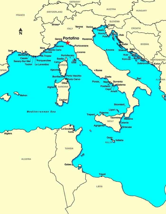 mapa portofino italia arquitectura paisaje urbano general