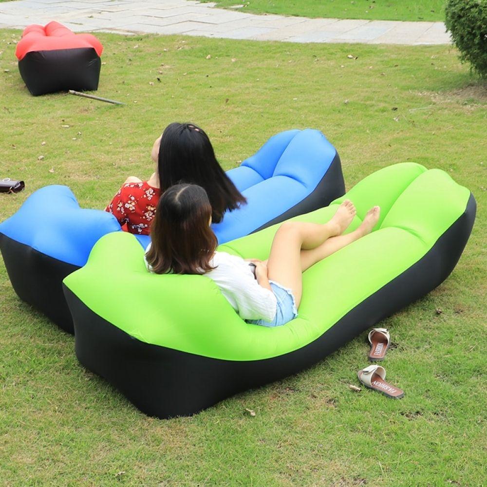 2019 New Outdoor Lazy Sofa Sleeping Bag Portable Folding Rapid Inflatable Air Sofa Bag Adults Kids Beach Loung Beach Bedding Inflatable Lounger Inflatable Sofa
