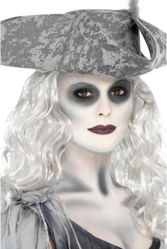 Smiffys Spooky Ghost Pirate Halloween Costume Makeup Kit ...