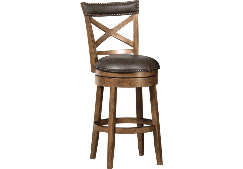 Vitellius Brown Swivel Counter Height Stool Counter Height