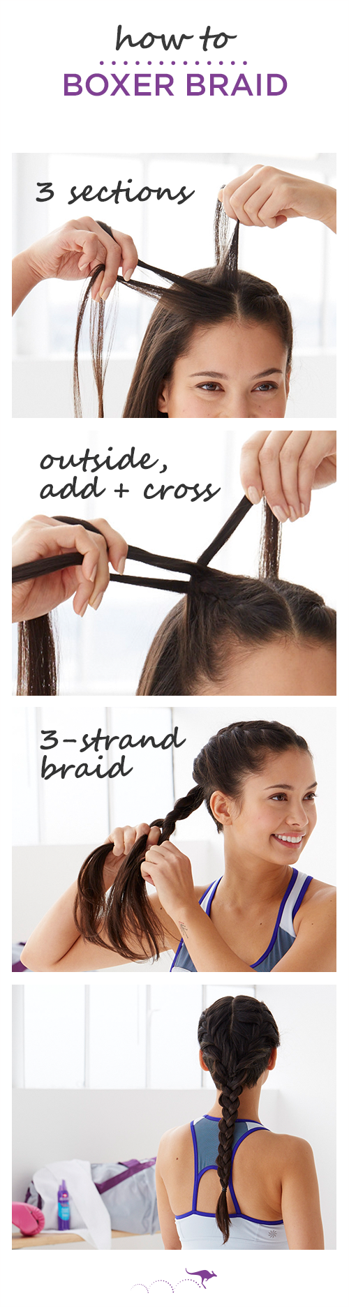 how to: boxer braid | the perfect hairstyle for running