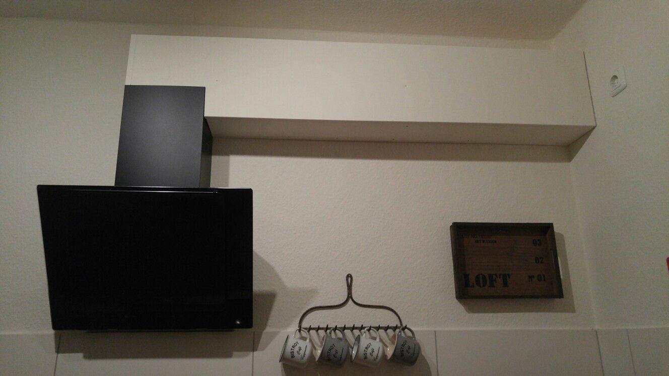 verkleidung f r das abzugsrohr einer dunstabzugshaube selbstgemacht ideen rund ums haus. Black Bedroom Furniture Sets. Home Design Ideas