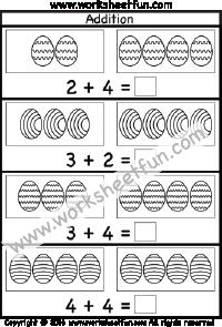 easter addition worksheet sums up to 10 one worksheet marinoe974 pinterest addition. Black Bedroom Furniture Sets. Home Design Ideas