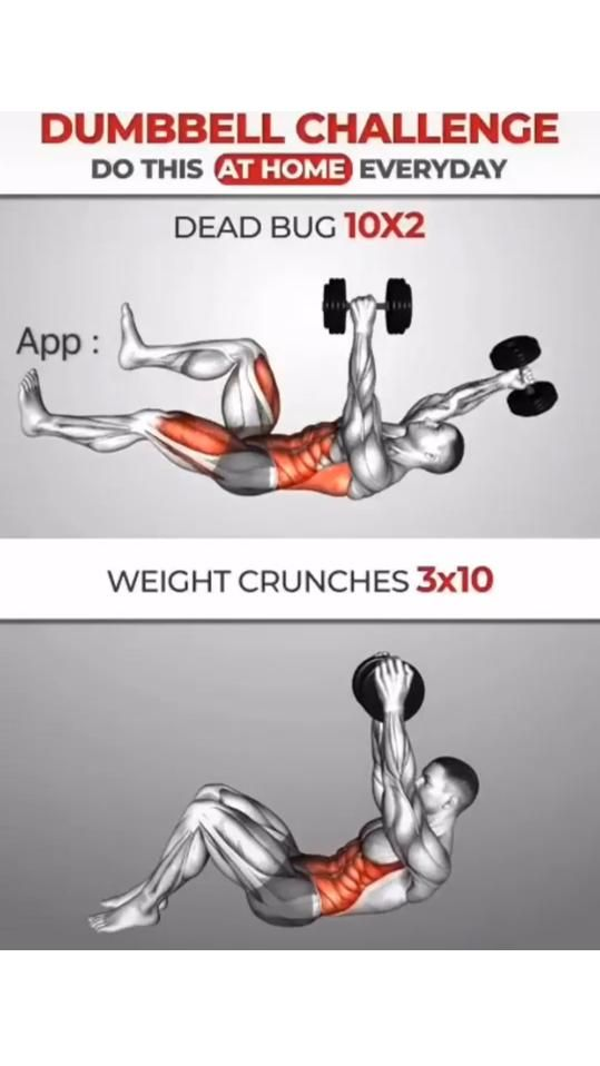 Dumbbell challenge at home