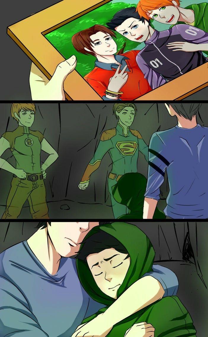Dick helping Damian say goodbye