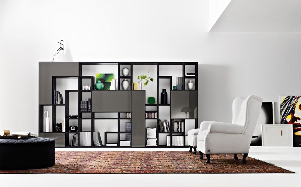Bookcase partition google search pinterest for Portable living room furniture