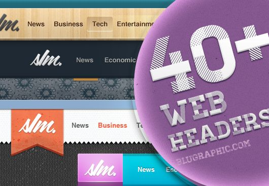 web headers psd header fonts and icons