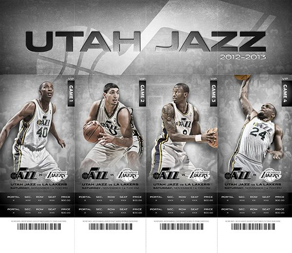 Marketing Of Sports Name Utah Jazz Description Jazz Fans Place Ticket Stubs Ad Cost Cost Of Ticket Utah Jazz Ticket Design Sports Pictures