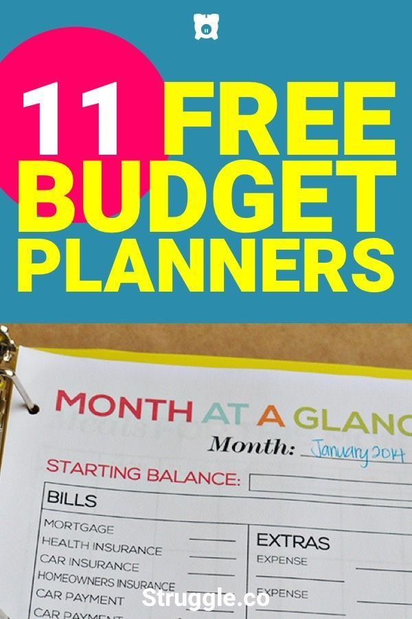 Budget Planners 11 Free  Awesome Planners to Balance the Budget - Free Budgeting Spreadsheet