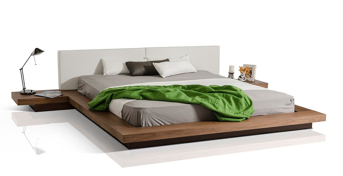 Best Modrest Opal Modern Low Profile Walnut Platform Bed 400 x 300