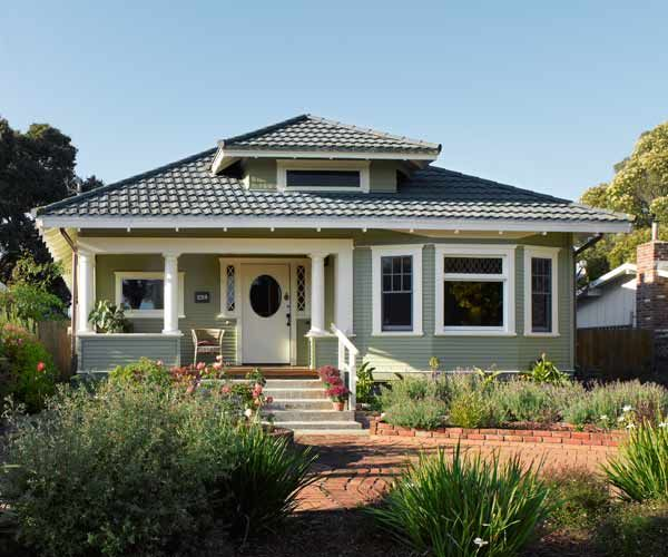 Cleaning up a classic craftsman craftsman bungalows for Metal roof craftsman home