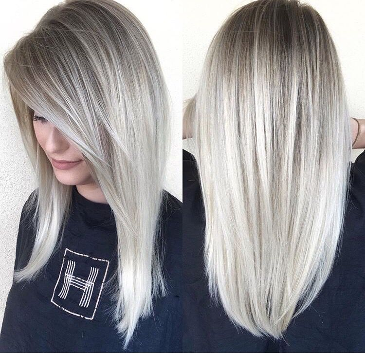 Icy Blonde Sombre Habit Salon Az With Images Icy Blonde