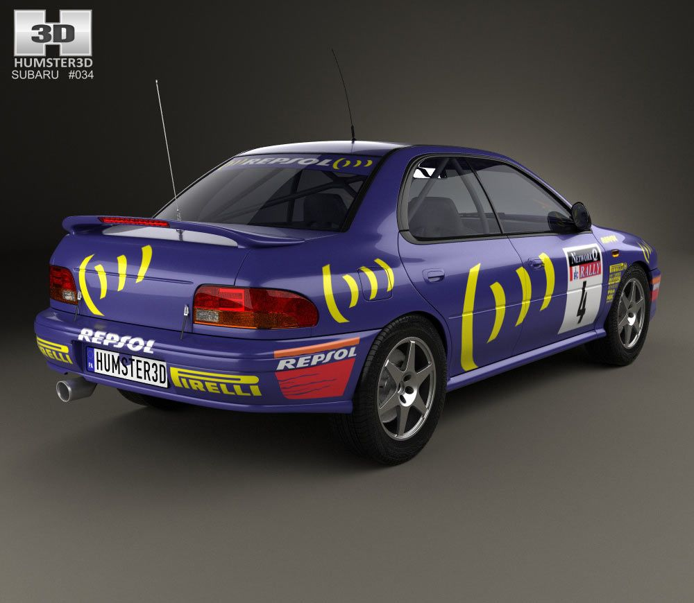 Awesome Subaru Impreza WRC (GC) 1993 3d Model