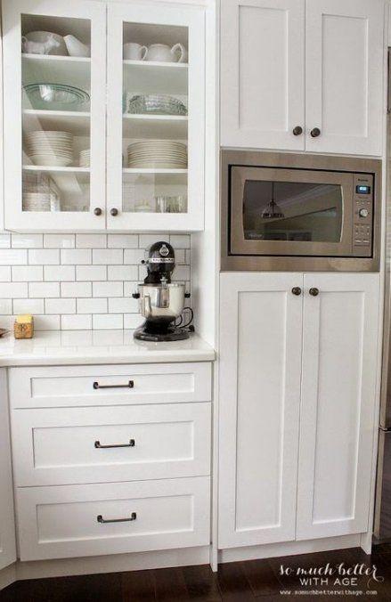 18 Ideas Kitchen Pantry With Microwave Range Hoods #kitchenpantrycabinets